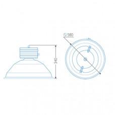 Индукционный светильник ITL-HB009 120 W