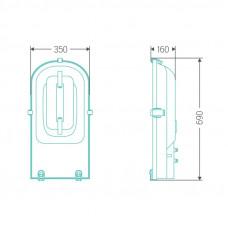 Уличный индукционный светильник ITL-SF006 120 W