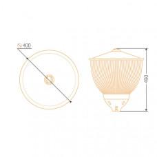 Уличный индукционный светильник ITL-CY001 120 W