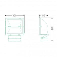 Прожекторный индукционный светильник ITL-FL002 120 W