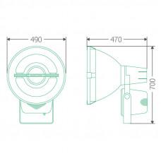 Прожекторный индукционный светильник ITL-FL004 200 W