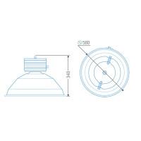 Индукционный светильник ITL-HB009 80 W
