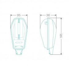 Уличный индукционный светильник ITL-SF001 120W