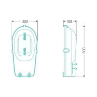 Уличный индукционный светильник ITL-SF004 80 W